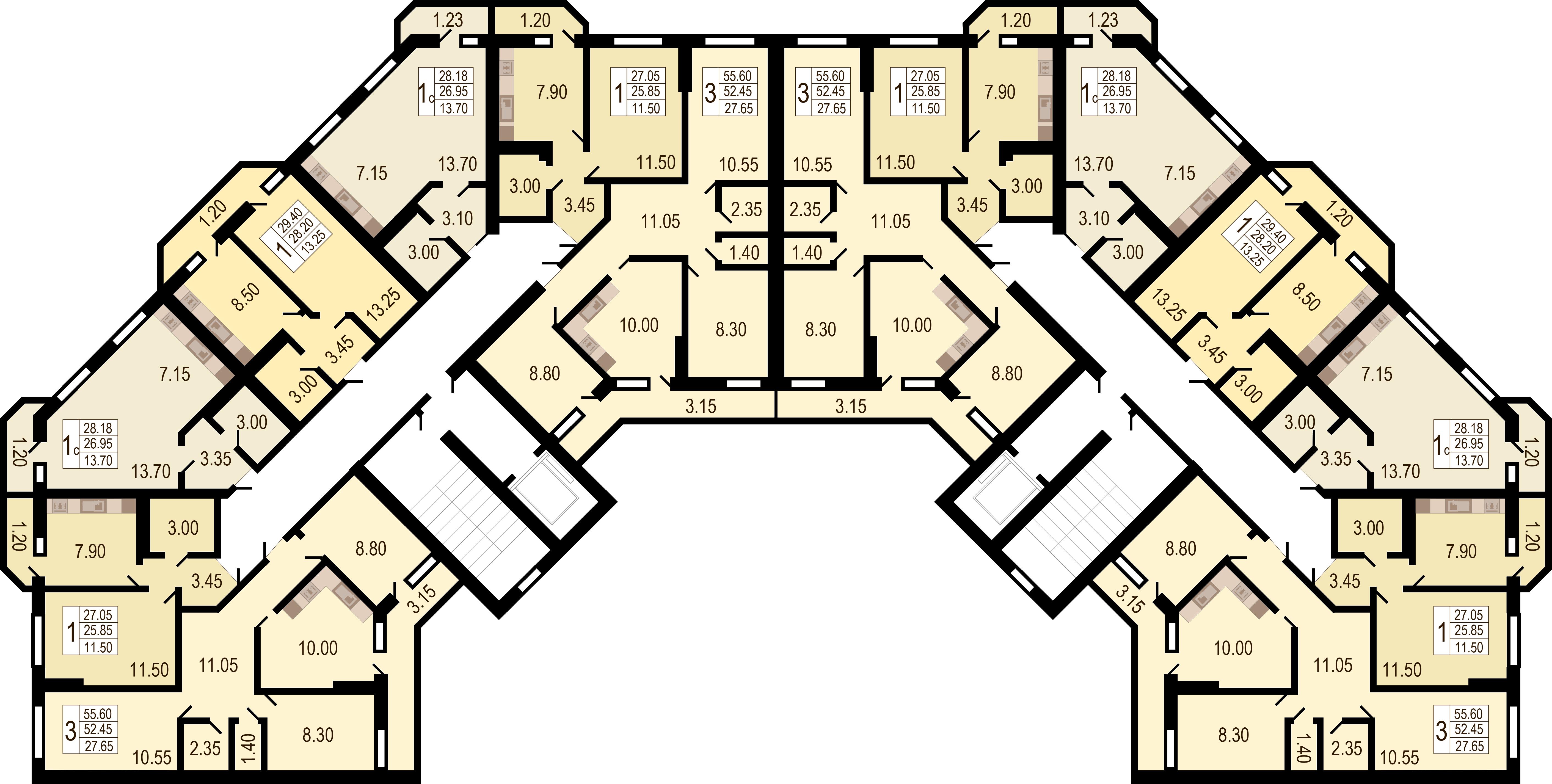 Купить квартиру студию в Краснодаре, 23 м², Южное Сияние