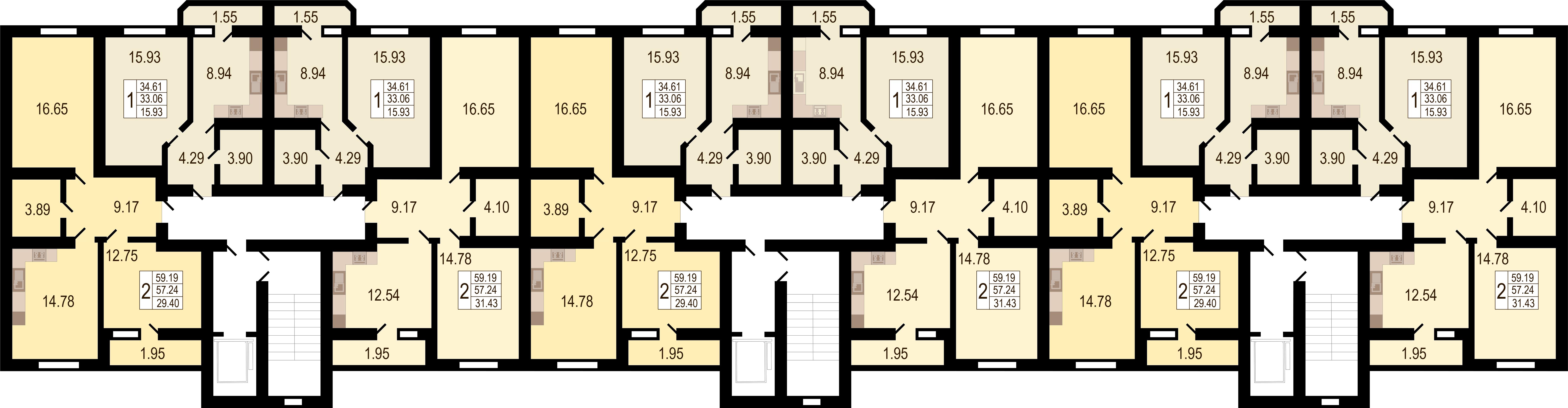 Купить однокомнатную квартиру в Краснодаре, 27,4 м², Южное Сияние
