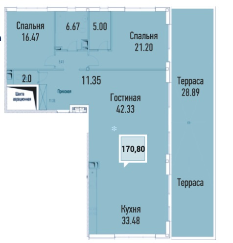 Купить пентхауз в Краснодаре, 170,80 м², ЖК «Империал»